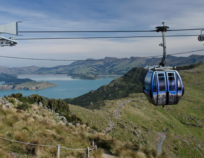 Lyttelton Harbour from the gondola carriage