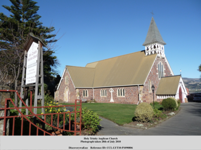 Photo shows the Holy Trinity Anglican Church in 2010 pre-earthquakes