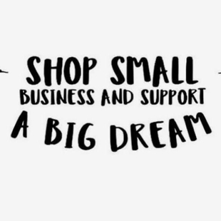 shop small business and support a big dream in balck writing as logo for Lyttel Kiwi