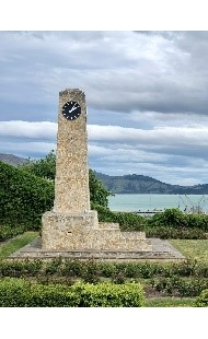 Upham clock tower in the centre of the Rose Garden in Lyttelton