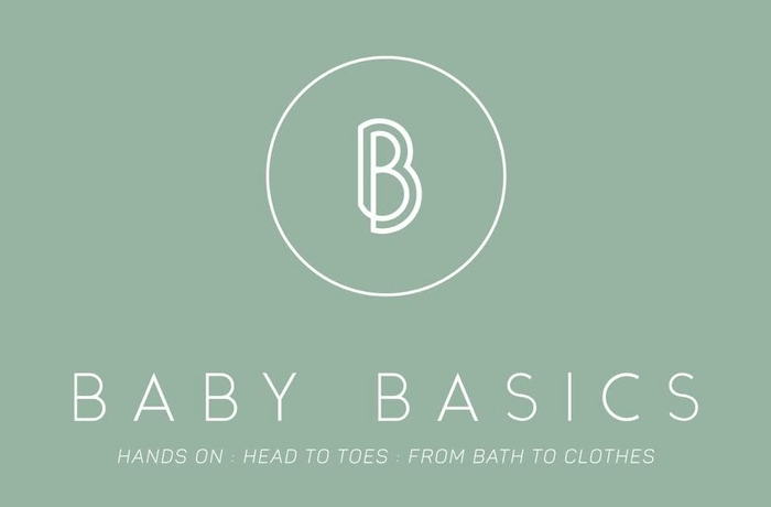 pale green back ground with bb logo for baby basics and details